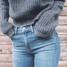 denim + knit.