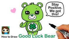 Spread the word to stop the spread Cuties! Learn How to Draw this cute Good Luck Care Bear for Coronavirus Awareness easy, step by step lesson. Proud Mom Quotes, Best Cousin Quotes, Little Brother Quotes, Daughter Quotes, Cute Bear Drawings, Cartoon Drawings, Kawaii Doodles, Kawaii Art, What To Do When Bored