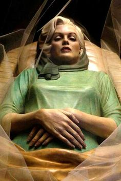 Marilyn in coffin.