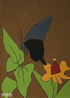 「揚羽蝶に百日草」19671