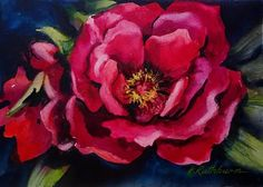 "Daily Paintworks - ""Peony"" - Original Fine Art for Sale - © Kathy Los-Rathburn"