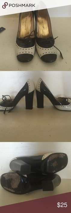 Marc by Marc Jacobs black and white heels. Medium wear and tear to these cute black and white pumps. Size 38.5. Marc by Marc Jacobs Shoes Heels