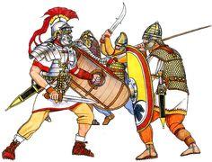 La Pintura y la Guerra. Sursumkorda in memoriam Ancient Rome, Ancient History, Army List, Roman Legion, Roman Soldiers, Medieval Armor, Roman Empire, Enemies, Warfare