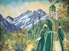 chechen art: circasssian girl