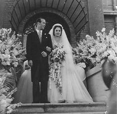 La Princesse Nevine Halim d'Egypte lors de son mariage en Août 1952 en Alexandrie