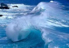 Beautiful Blue Ocean Waves
