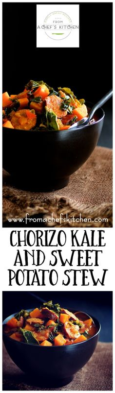 Chorizo, Kale and Sweet Potato Stew is hearty, nutritious and the perfect warm-up! Spring is beginning to roll in here in the Mid-South. Daffodils, forsythia an