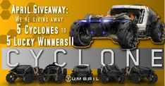 Check out this awesome #StarCitizen Tumbril Cyclone #giveaway where 5 lucky winners will be selected to each win their very own Cyclone, driveable now in Alpha 3.1!
