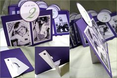 Table Numbers - use old photos that your age in the photo corresponds with the table number