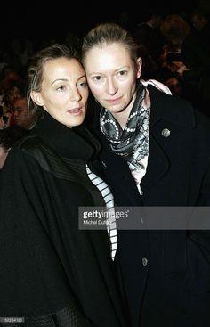 Designer Phoebe Philo and Tilda Swinton are seen backstage at the Chloe fashion…
