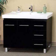 """39"""" Bellaterra Home Bathroom Vanity 203129-B #BellaterraHome #HomeRemodel #BathroomRemodel #BlondyBathHome #BathroomVanity"""