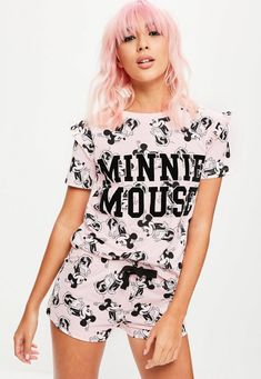 Disney Pink Minnie Mouse Pajamas Set