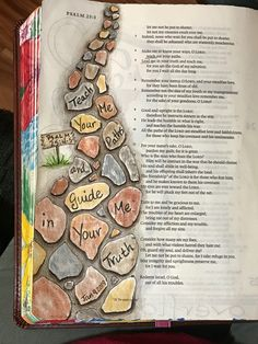 Psalm 25:4-5. Make me know Your ways, O Lord; teach me Your paths. Lead me in Your truth, and teach me. Sherrie Bronniman - Art Journaling: In My Bible