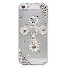 Stylish Crystal Cross Transparent Case Cover for iPhone 5 - iPhone 5 Accessories - iPhone Accessories