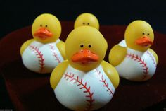 Baseball Sport Mini Rubber Ducky  2 doz set of 24 Party favor Gift New #Sports