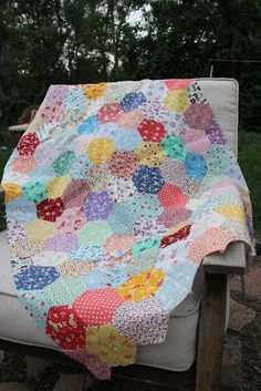 Hex quilt from Stitchery Dickory Dock, beautiful and a lot of work