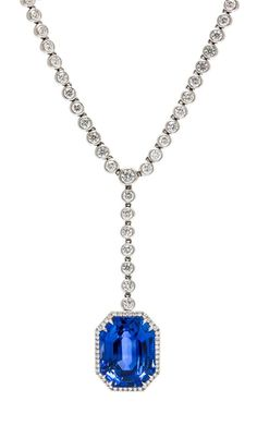 A Fine Platinum, Diamond and Ceylon Sapphire Necklace, Harry Winston | Important Jewelry | April 19 & 20, 2015 | Chicago