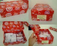 Eu Amo Artesanato: Como encapar caixa de sapato com papel de presente passo a passo(caixa organizadora para artesanato)