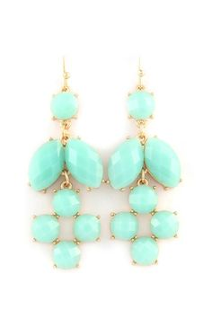 Mint earrings
