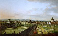 Veduta su Vienna dal Belvedere, Canaletto, 1758-61.