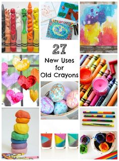 Wondering what to do with your broken crayons? I've rounded up 27 NEW uses for OLD broken crayons! You're gonna love these ideas!