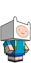 Adventure Time cubee papercrafts