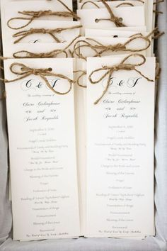 Twine just like burlap is amazing for rustic weddings, it's very budget-friendly and looks amazing. How can you use twine in your wedding decor?