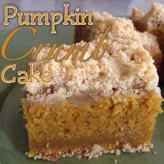 Pumpkin Crumb Cake is the ultimate pumpkin dessert!