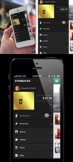 Shameless plug –My Starbucks iOS redesign.