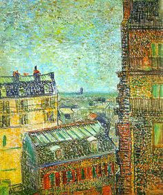 Vincent van Gogh - View of Paris from Vincent's room in Rue Lepic