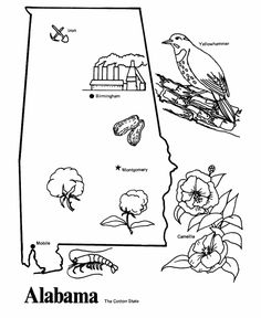 Alabama State Flag Coloring Page | The History Teacher ...