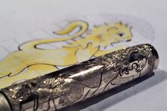 Gold fountain fen hand engravings