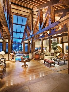 Mountain Home - gotta have beams and amazing windows
