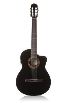 Cordoba C5-CETBK Thin Line Classical Nylon String Guitar - Black - $419.99 #guitars #interstatemusic