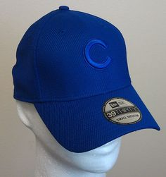 Chicago Cubs New Era Cap 39Thirty Embroidered S/M Blue Stretch NEW/NWT $27.99R #NewEra #ChicagoCubs