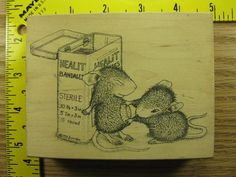 Stampinsisters Rubber Stamp House Mouse Healit Bandages Stampa Rosa #1600 #StampaRosa