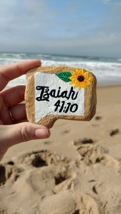 Inspirational Rock, Message Stone, Sea Stone, Beach Rock, Painted Stone, Bible Passage Stone, Isaiah 41:10, Lords Word by PaintedDandelion on Etsy