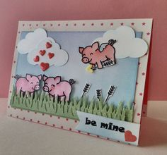 Lawn Fawn - Critters on the Farm _ Adorable Piggy Love Valentine by Nicole! | Flickr - Photo Sharing!