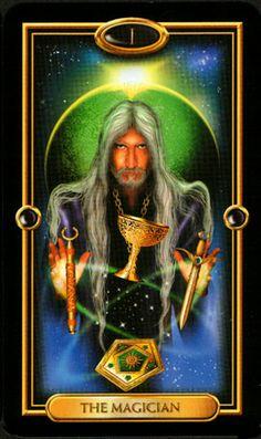 gilded tarot card images - o mago