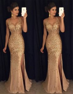 Mermaid Spaghetti Straps Sweep Train Criss-Cross Straps Green Tulle Prom Dress with Beading