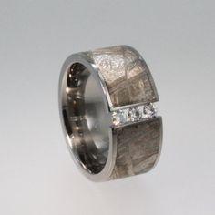 mengagement ring - Man-gagement Meteorite Ring