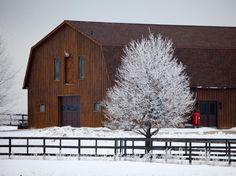 Big brown barn