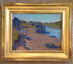 "Gertrude H. Fiske, ""Fishing Shacks"", Maine."
