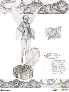 "Here's a peek behind the scenes of some of the artwork produced to create ""Tinkerbell"", the second statue in the J. Scott Campbell's Fairytale Fantasies line from Sideshow Collectibles Join the RSVP list for more details as they are revealed Reference Manga, Art Reference Poses, Scott Cambell, Character Art, Character Design, Fairytale Fantasies, Girl Sketch, Wow Art, Comic Book Artists"