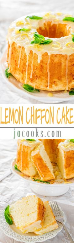Lemon Chiffon Cake ~ It's very light and soft and topped with a delicious lemon glaze... Always a crowd please.