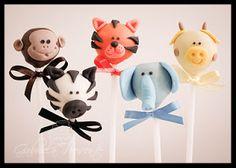 Gabriela Presente Bolos decorados: Cake Pops Safari