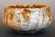 Pottery Chawan from the Studio of George Watson  Shigaraki Type Clay with feldspar chips and crater white glaze