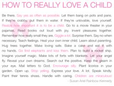 how to really love a child quote