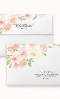FREE ADDRESS PRINTING WITH CUSTOM ENVELOPE