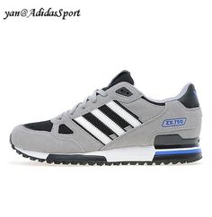 brand new aae5f 357e7 Hombres Zapatillas Running Adidas Originals ZX 750 Carbono Gris claro Blanco  Outlet Venta